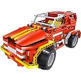 Teknotoys 85000011 - Active Bricks RC 2in1 SUV und Roadster, rot