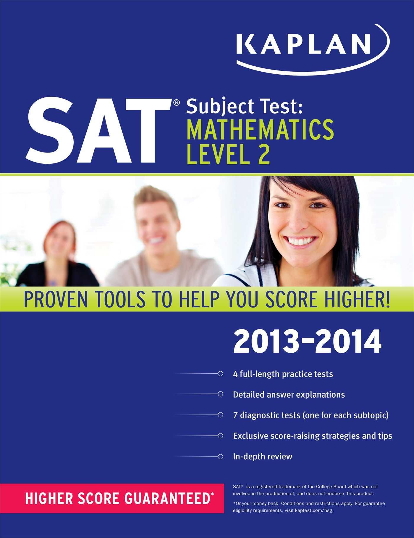 Amazon.com: Kaplan SAT Subject Test Mathematics Level 2 2013-2014 ...