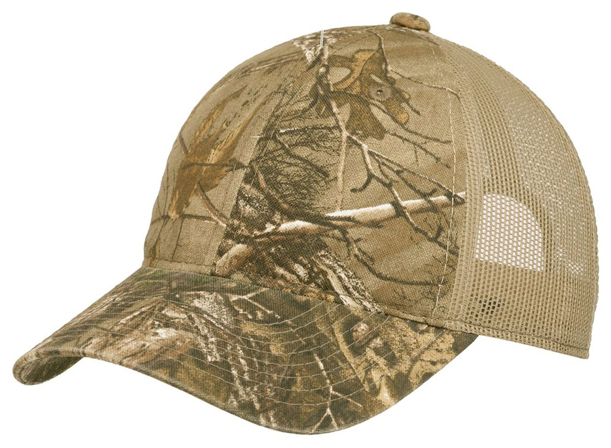 Port Authority Unstructured迷彩メッシュバックcap-c929-osfa B01MTSRHP5 One Size|Realtree Xtra/ Tan Realtree Xtra/ Tan One Size