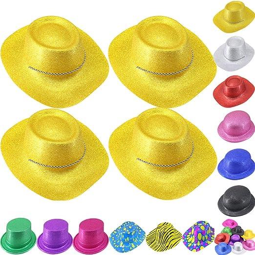 12pcs Brillo Sombrero de Cowboy Vaquero Unisex Estilo Gángster ...