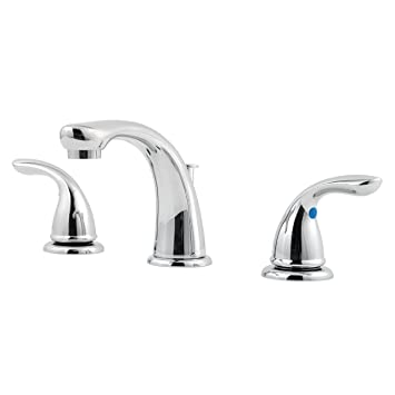 Attractive Pfister G1496100 Pfirst Series 2 Handle 8 Inch Widespread Bathroom Faucet  In Polished Chrome