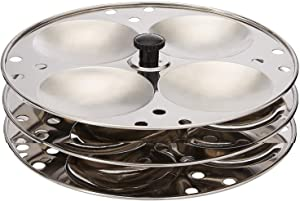 Stainless Steel Plates 3-Rack Idli Stand Makes 12 Idlis idli Stand for Pressure Cooker, Stainless Steel Idli Maker Kitchen Appliances,