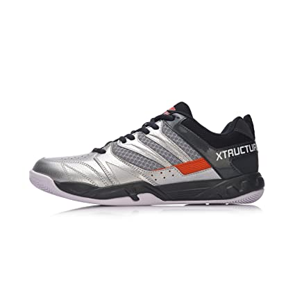 Amazon.com  LI-NING 2018 Men Badminton shoes AYTN025-4 Silver ... 26cf2e51a