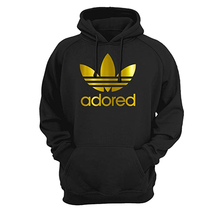 2b38840a Stone Roses Ian Brown Wanna Be Adored Hoodie Gold Logo: Amazon.co.uk:  Clothing
