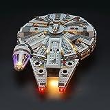 スター・ウォーズ ミレニアム・ファルコン ブロック組み立てモデル 対応 Lightailing LEDライトセット – レゴ 75105 対応LEDライトキット (本体別売)