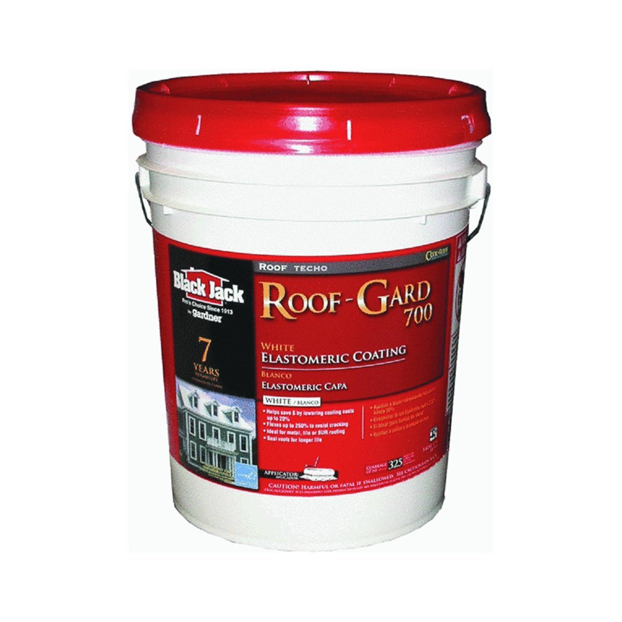 Superb GARDNER GIBSON 1/30/5527 4.75 Gallon White Elastomeric Roof Coating    Painting Coveralls   Amazon.com