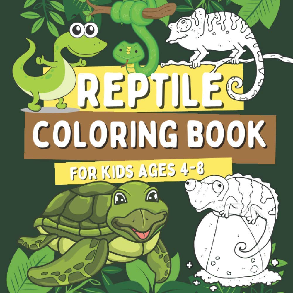 Reptile Coloring Book For Kids Ages 4 8 Coloring Pages For Children With Alligators Crocodiles Turtles Lizards Snakes And More Gift For Boys And Girls Who Love Wild Animals Barrys Oscar 9798568765585 Amazon Com