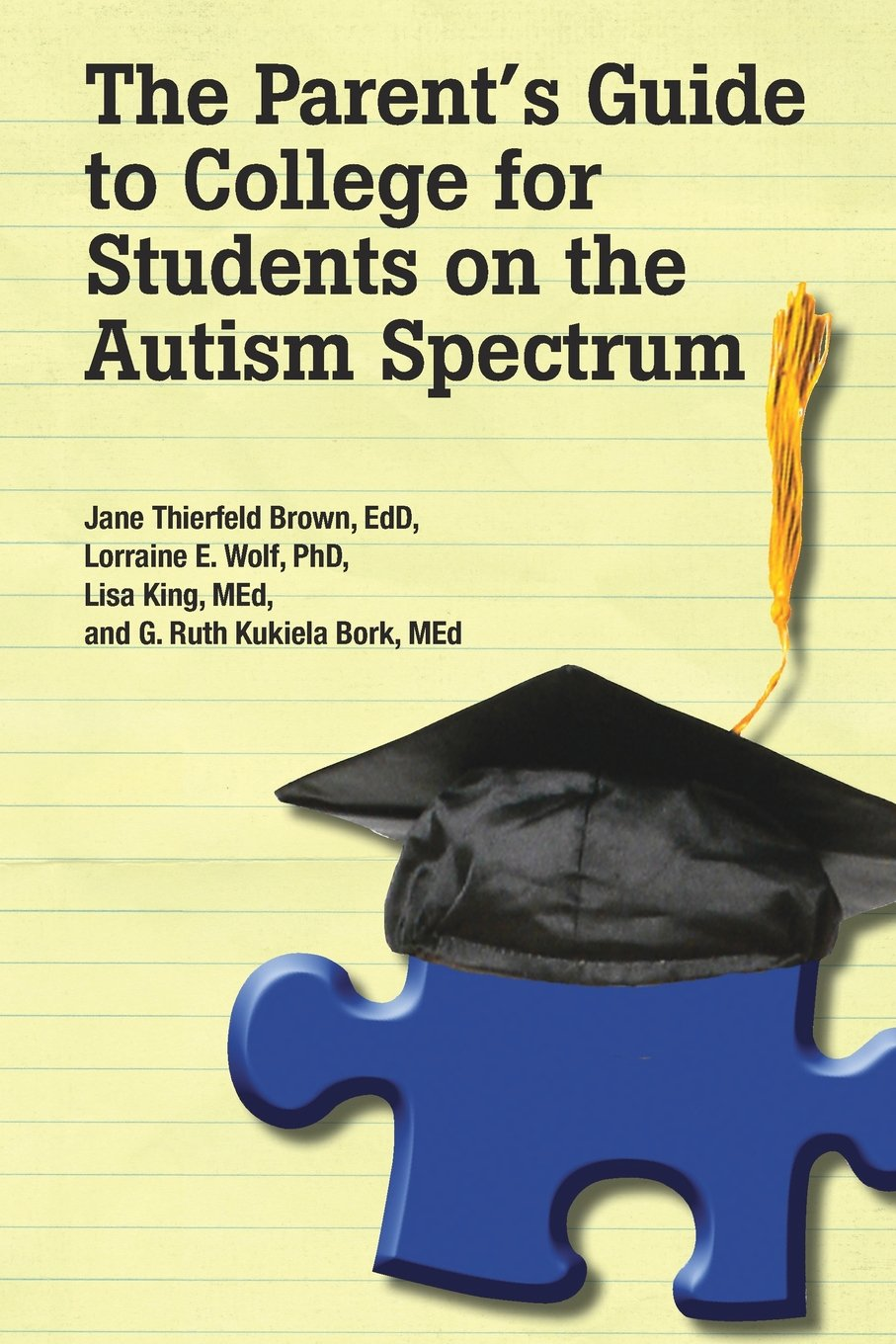 The Parent's Guide To College For Students On The Autism Spectrum: Jane  Thierfeld Brown, Edd, Lorraine Wolf, Phd, Lisa King Med, G Ruth Bork,