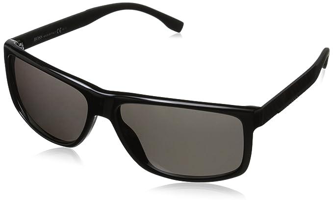BOSS Hugo Boss Hugo Boss Herren Sonnenbrille Boss 0637/S 3H Hxa, Schwarz (Black Carbon/Grey Pz), 60