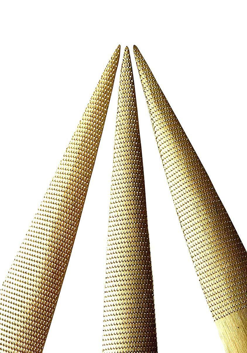 YXMxxm 3 Pezzi raspa Set di File Oro raspa File carpenteria raspa File Strumento a Mano Tondo per Dividere Legno Metallo e plastica