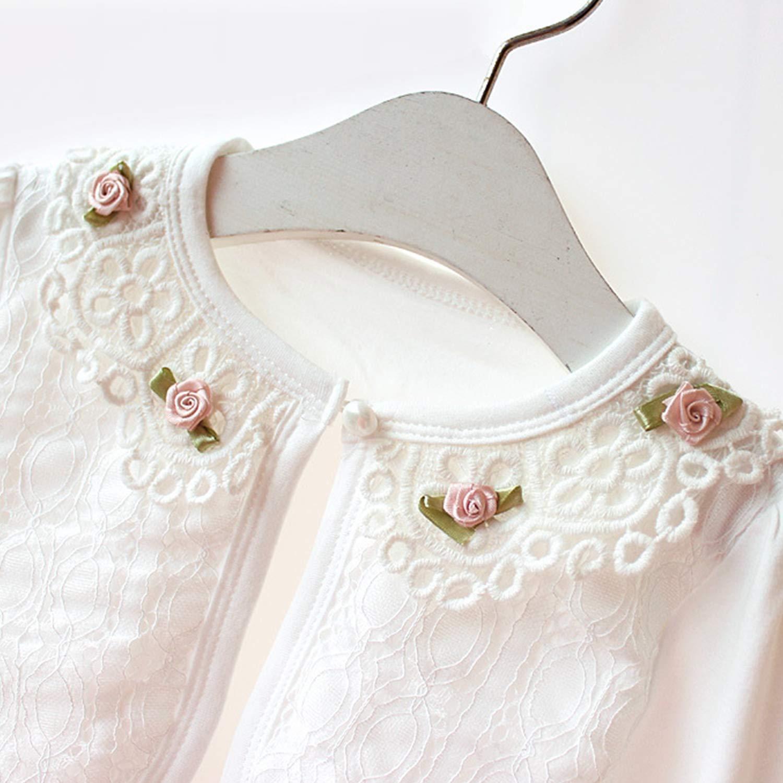 Evelin LEE Little Girls Long Sleeve Lace Flower Bolero Jacket Shrug Cardigan Dress Cover Up