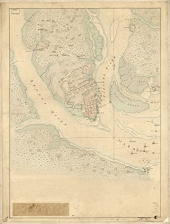 Amazon Com Vintage 1780 Map Of The Investiture Of Charleston S C