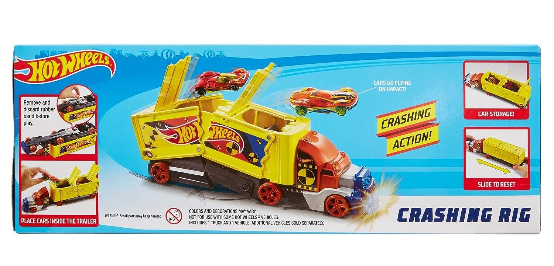 Hot Wheels Camion Crash transporteur pour carambolages de voitures jouet pour enfant GCK39