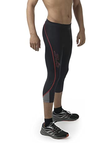 fa921d60e4fb0 Sub Sports Mens Compression Capri Cropped Leggings Tights Running Pants Base  Layer, Moisture Wicking Fabric