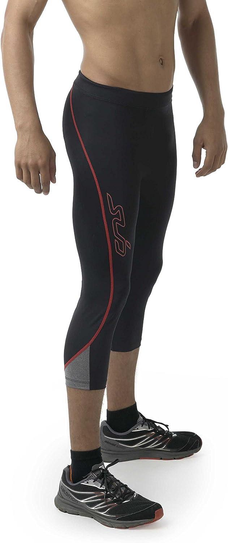 Sub Sports Mens Compression Capri Leggings Tights Running Sweat Wicking Fabric