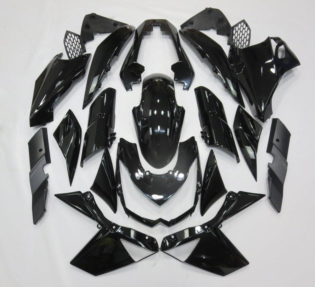 ZXMOTO ABS Injection Motorcycle Bodywork Fairing Kit for Kawasaki Ninja ZX-10R 2011 2012 2013 Gloss Black Pieces//kit: 19