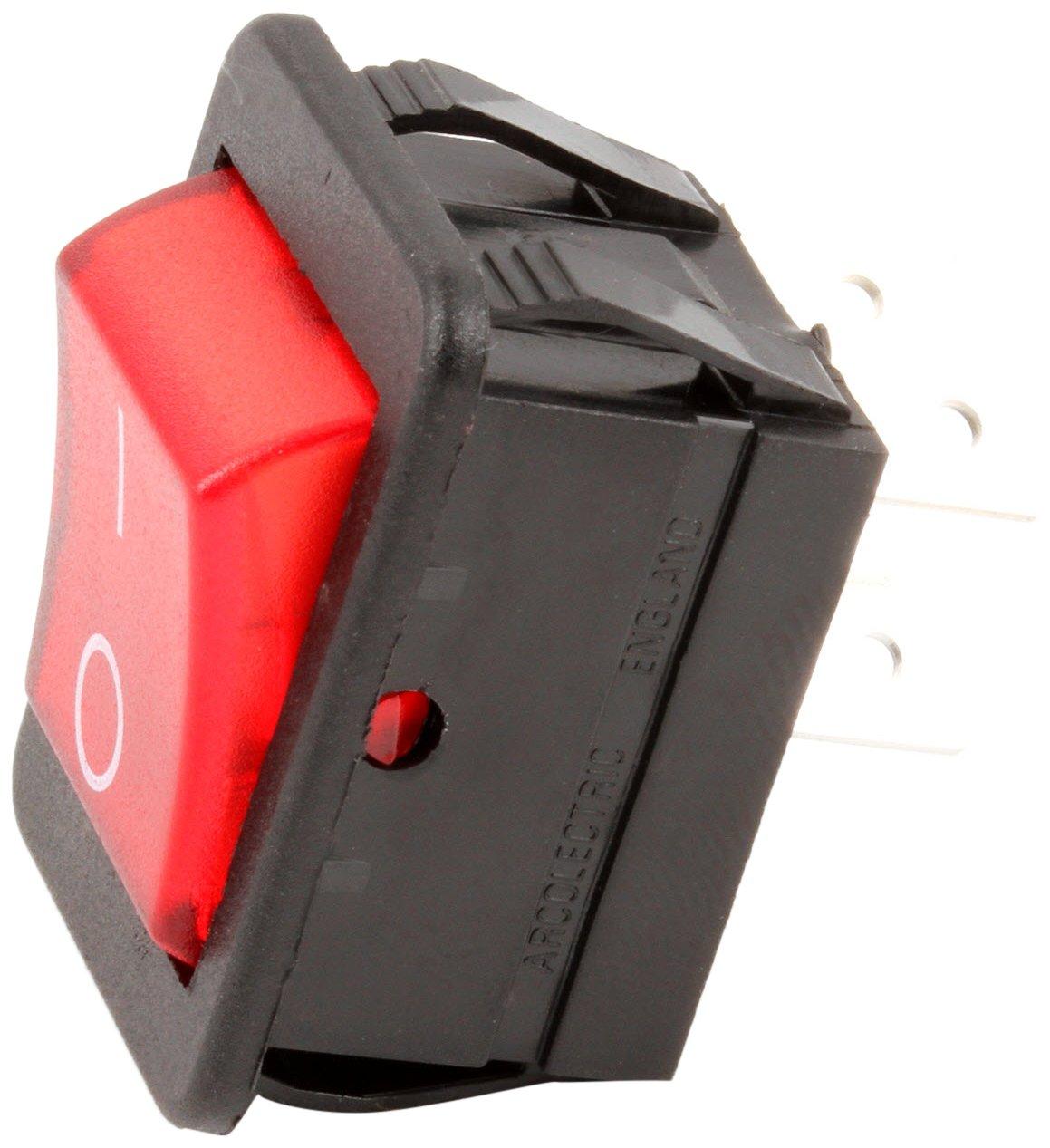 16A//125-250V Red Grindmaster Cecilware L155A Rocker Switch