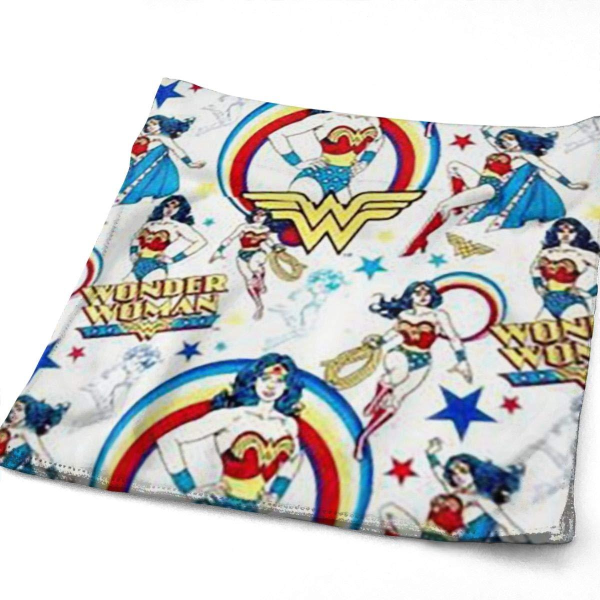 Playa Ideal para Uso Diario Toallas de ba/ño Ultra Suaves de 11.8X 27.5en para Piscina Viaje Greatbe Toallas Deportivas Resistentes Wonder Woman