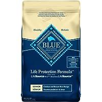 Blue Buffalo Life Protection Formula Senior Dog Food - Natural Dry Dog Food For Senior Dogs - Chicken And Brown Rice…