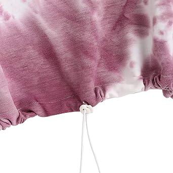 ZAFUL damski sweter bluza, Toggle Drawstring Drop Ramiona zbiory bluza: Odzież