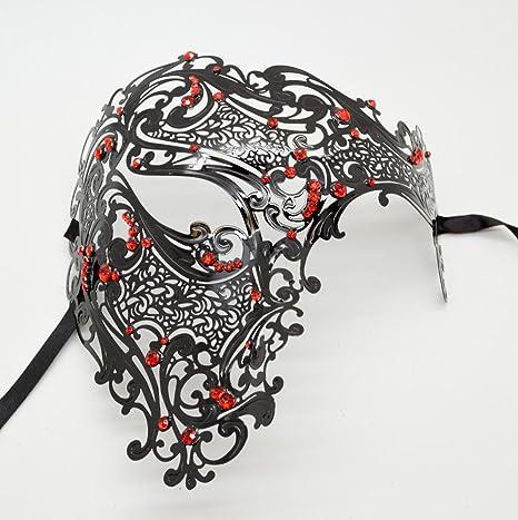 Amazon.com: NUEVO 2015 mujeres metal fantasma máscara estilo ...