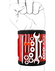 COOWOO Magnetic Wristband with Strong Magnets for Holding Screws, Nails, Drill Bits - Best Unique Tool Gift for DIY Handyman, Father/Dad, Husband, Boyfriend, Men, Women