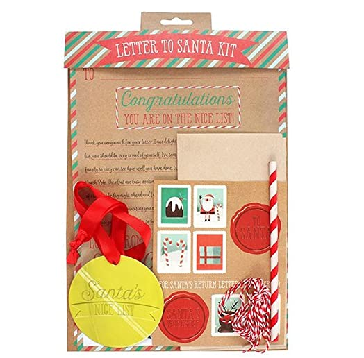 Christmas letter to santa kit amazon kitchen home christmas letter to santa kit spiritdancerdesigns Image collections