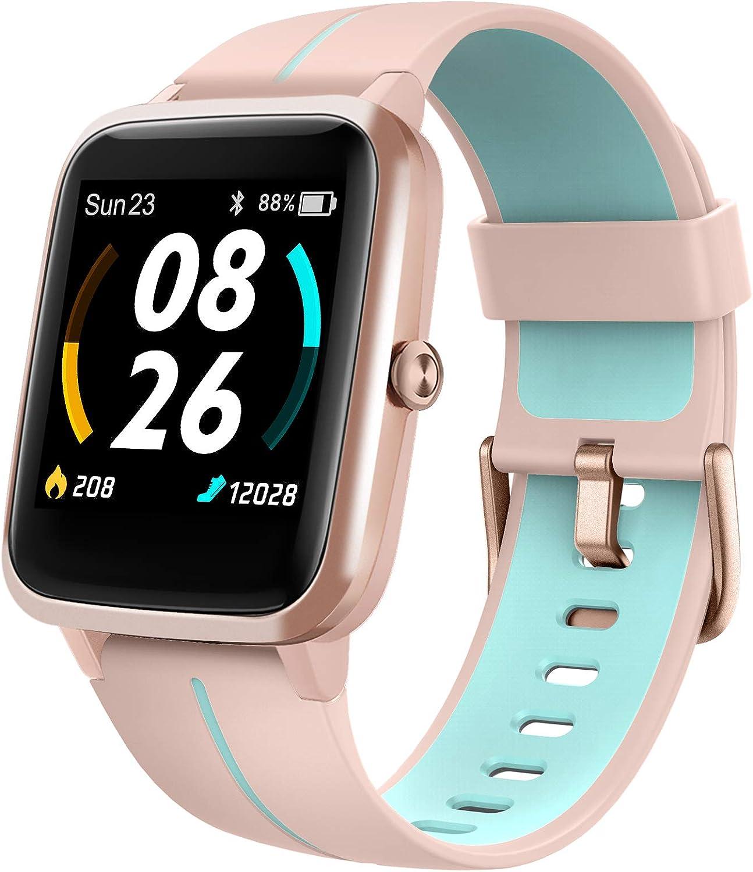 LIFEBEE Smartwatch, Reloj Inteligente Impermeable IP68 para Hombre Mujer, Pulsera Actividad Inteligente con Pulsómetros, Monitor de Sueño, Podómetro Reloj Deportivo para Android iOS