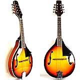 A Style Mandolin Instrument with Adjustable Truss-Rod by Hola! Music (Model HM-3TS) - Glossy Sunburst Finish