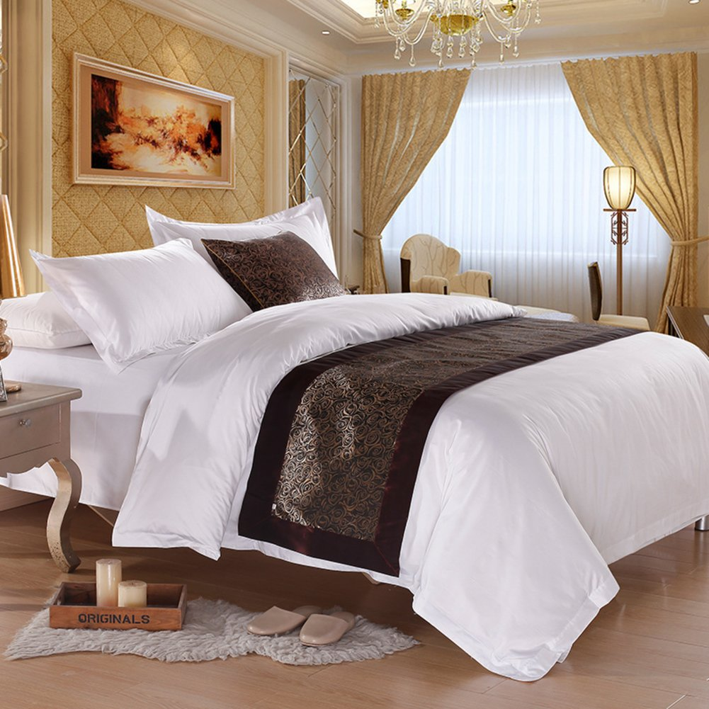 A five-star hotel bed/Hotel bed scarf/ bed foot mat/bed runner/bed cover/decorative strip/ table runner/covering cloth/tea table runner / table cloth-D 50x210cm(20x83inch)