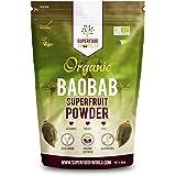 Organic Baobab Powder   Raw Organic Baobab Superfruit Powder   Rich in Vitamin C, Fibre & Antioxidants   Supports Healthy Skin, Digestion & Blood Sugar   Ideal for Smoothies & Juices 300g