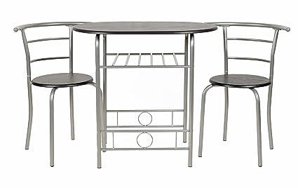 ts-ideen Juego de 3 piezas comedor mesa y sillas para la cocina ...