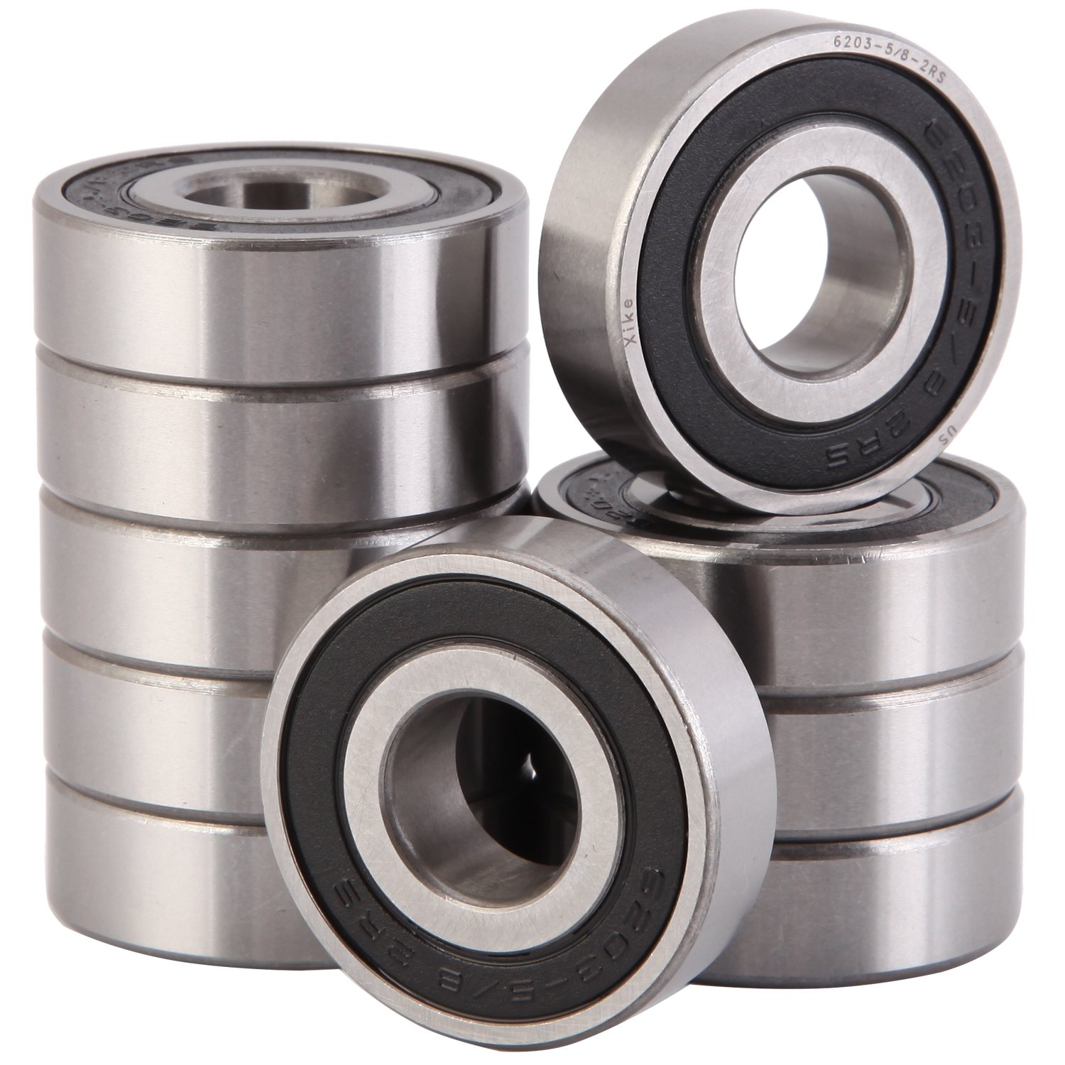 Double Seal and Pre-Lubricated Stable Performance and Cost-Effective 4 Pack 6204-2RS Bearings 20x47x14mm Deep Groove Ball Bearings