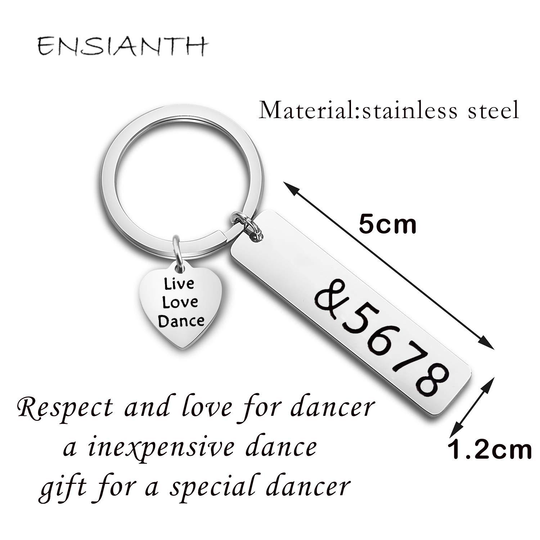 ENSIANTH Dance Teacher Gift Live Love Dance Keychain &5678 Jewelry Gift for Dance