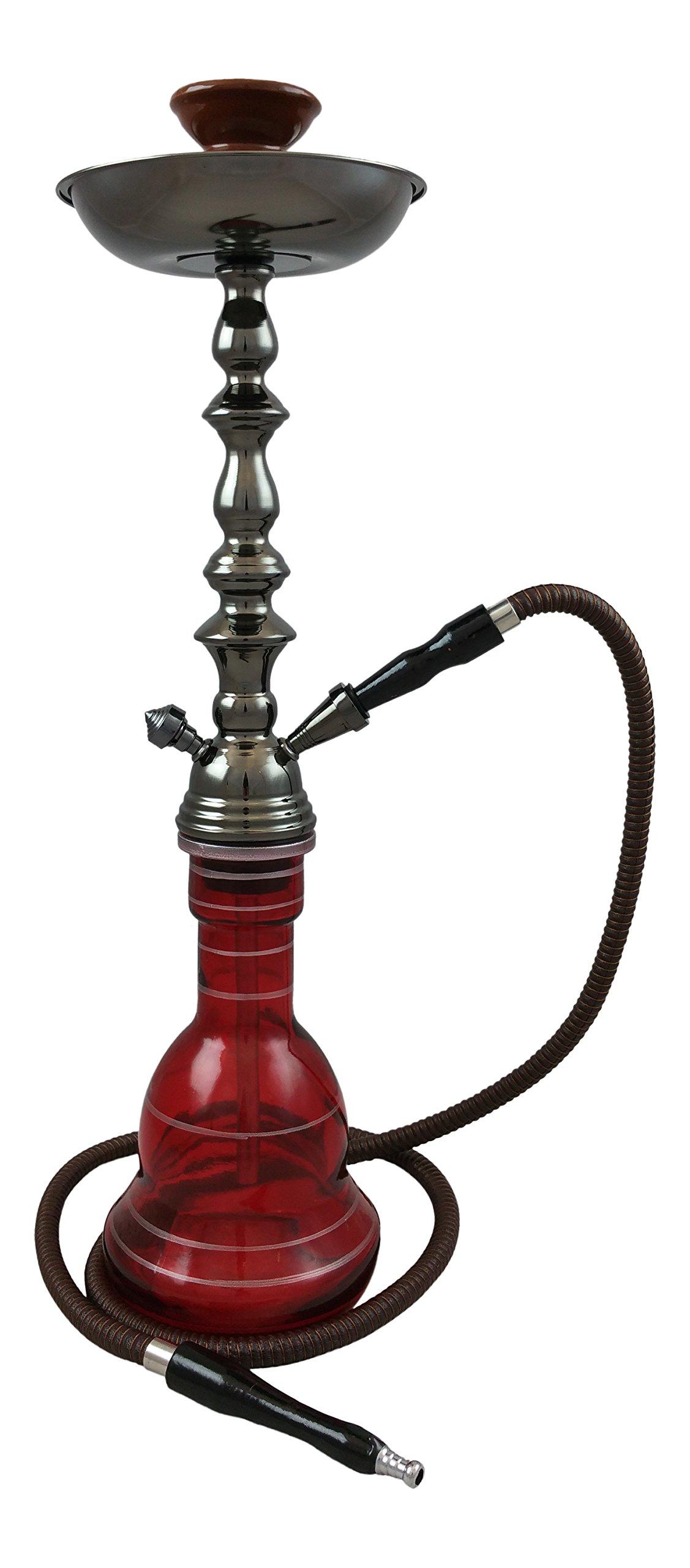 24'' Habibi Single Hose Hookah - Red