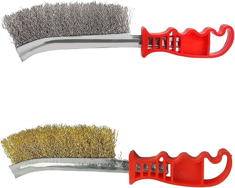Hochwertige Drahtb/ürste Stahlbesen Stahlb/ürste Handb/ürste Messingb/ürste Bremsenb/ürste