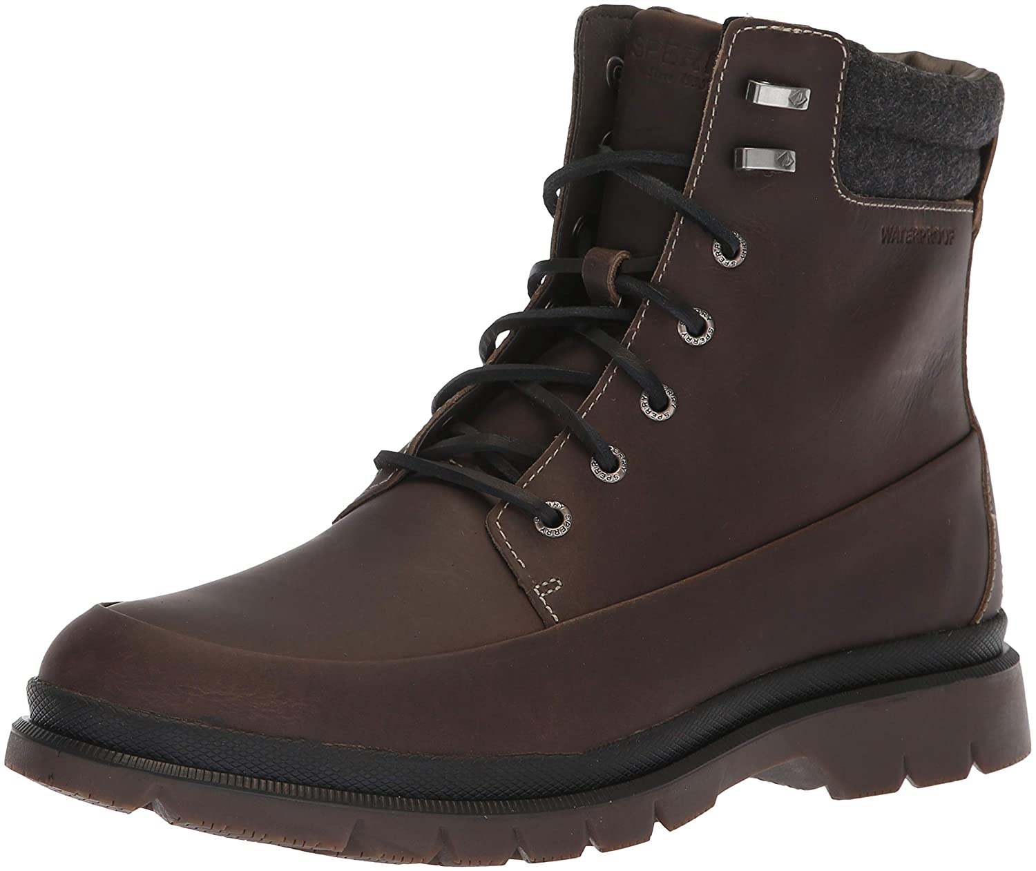 Grey Sperry Mens Watertown 6  Boot Boots