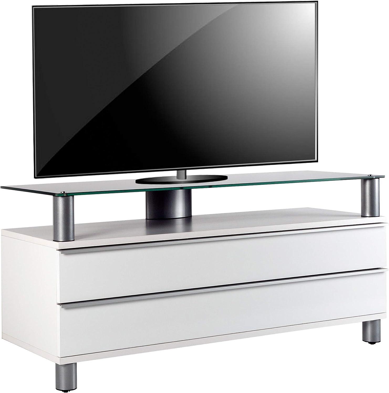VCM Dasano Mueble para televisor Dasano Pantalla Flat salón Moderno, Madera, Blanco, 55 x 120 x 40 cm: Amazon.es: Hogar