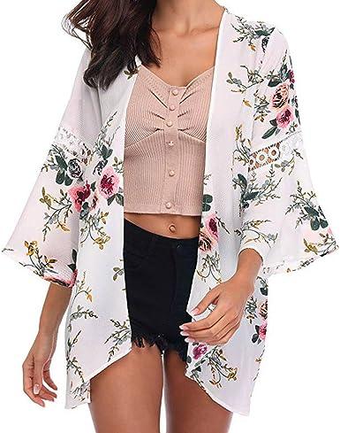Camisetas Manga Larga Mujer Tumblr Kimono Otoño Mujer Camisetas Vestidos Camisas Ropa Chandal Chaquetas Tops Sudaderas Mujer Capucha Blusa: Amazon.es: Ropa y accesorios
