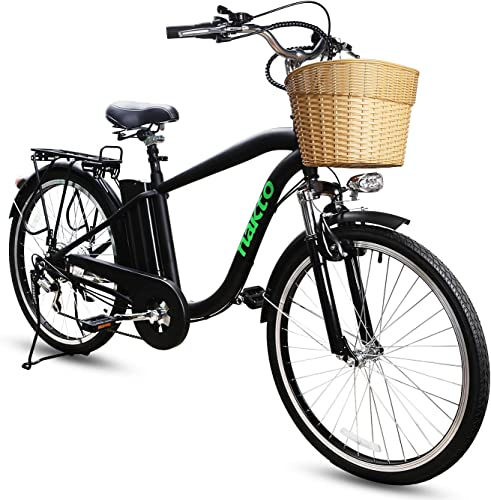 NAKTO 26 City Adult Electric Bicycles 1 Year Warranty 250W Assisted Bicycle for Men Woman with Removable 36V 10A Large Capacity Lithium Battery and Charger,with UL CE CPSC Certification