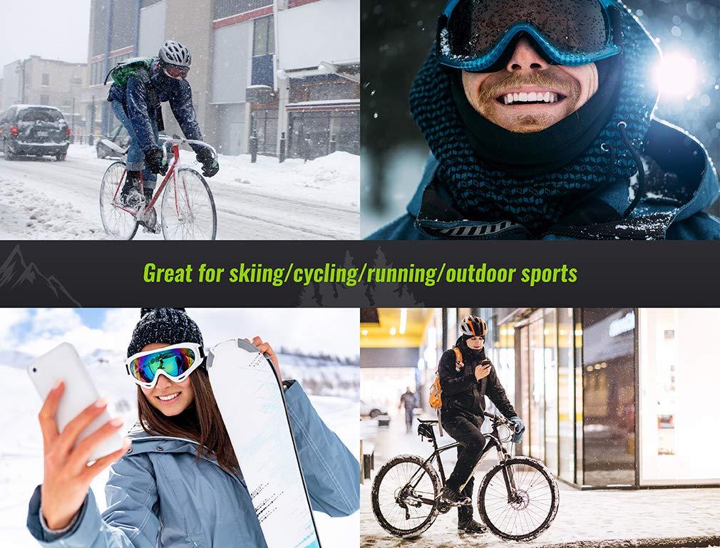 Tour De Cou Multifonctions Doubl/é Polaire pour la Moto Cyclisme Le Ski