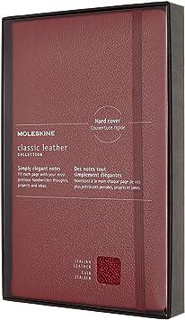 Moleskine, Cuaderno de Piel Italiana con Tapa Dura y Páginas Rayadas, Edición Limitada en Caja ...
