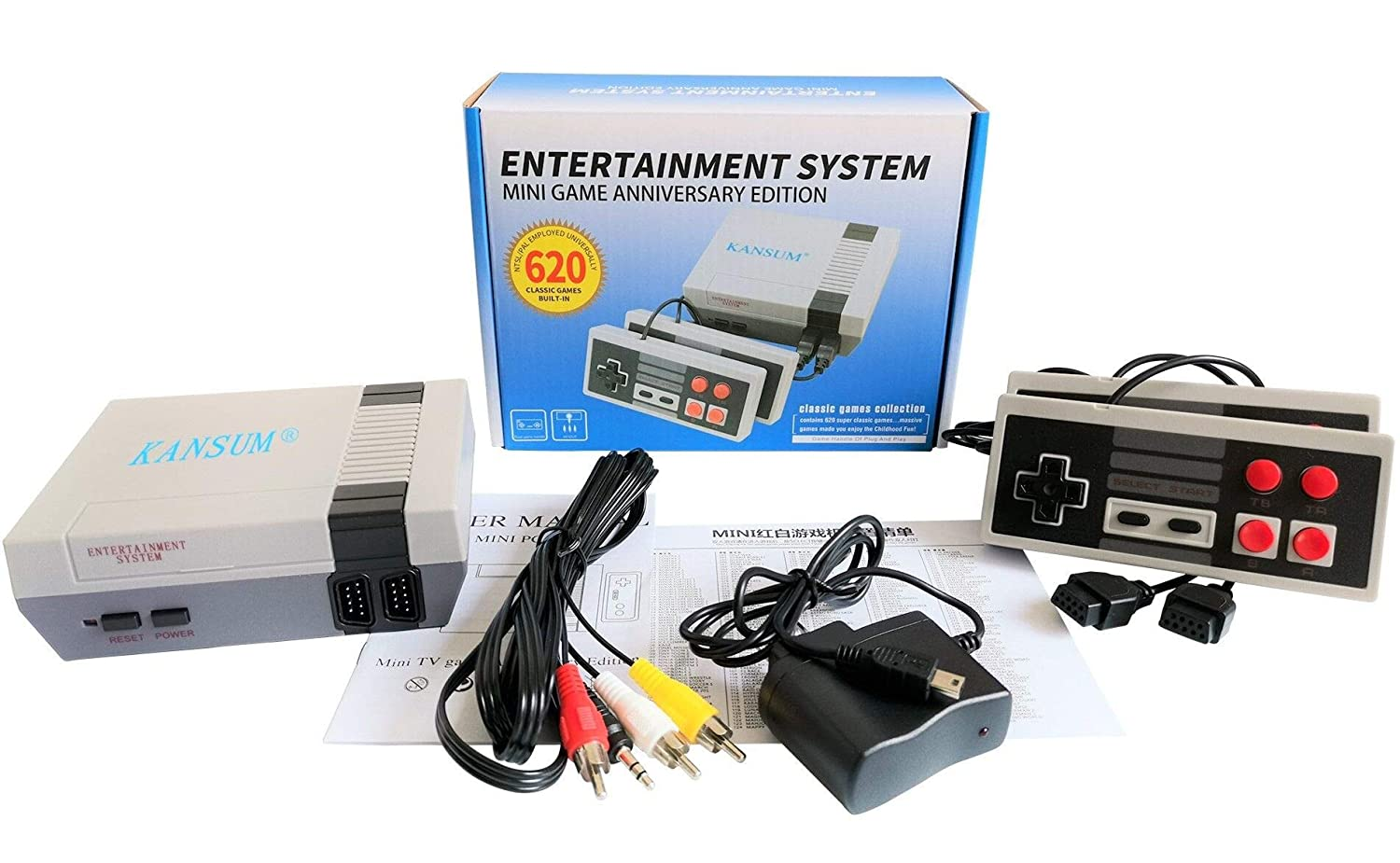 Mini Classic Game Consoles Mini Retro Game Consoles Built-in 620 Games Video Games Handheld Game Player (AV Out Cable 8-Bit) Bring You Happy Childhood Memories: Video Games