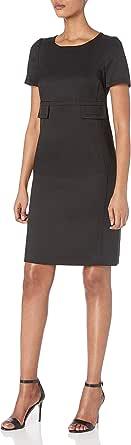ANNE KLEIN Women's Short Sleeve Shift Dress