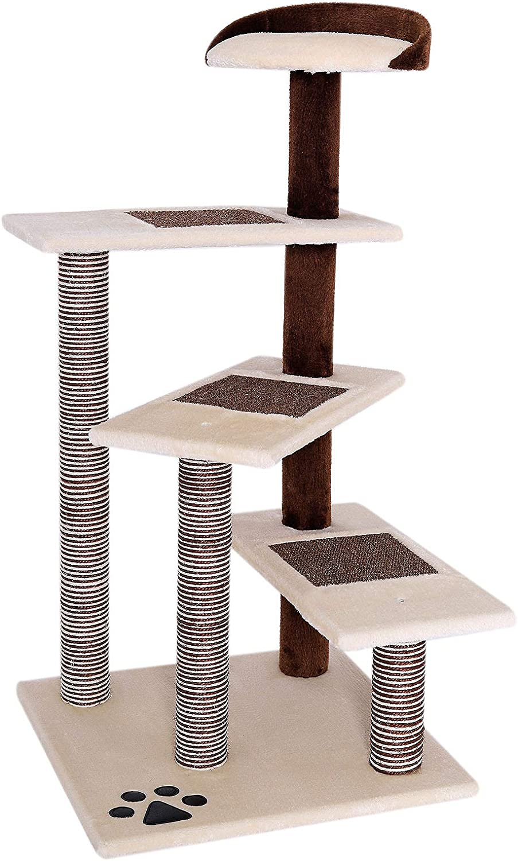 dibea Árbol rascador árbol para escalar árbol rascador para gatos Altura 100 cm beige/marrón