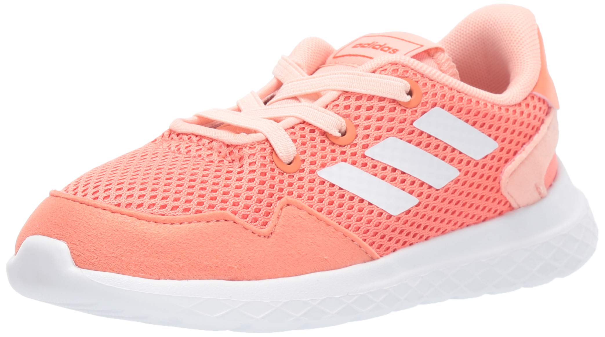 adidas Baby Archivo Sneaker, Semi Coral/White/Glow Pink, 9K M US Toddler by adidas