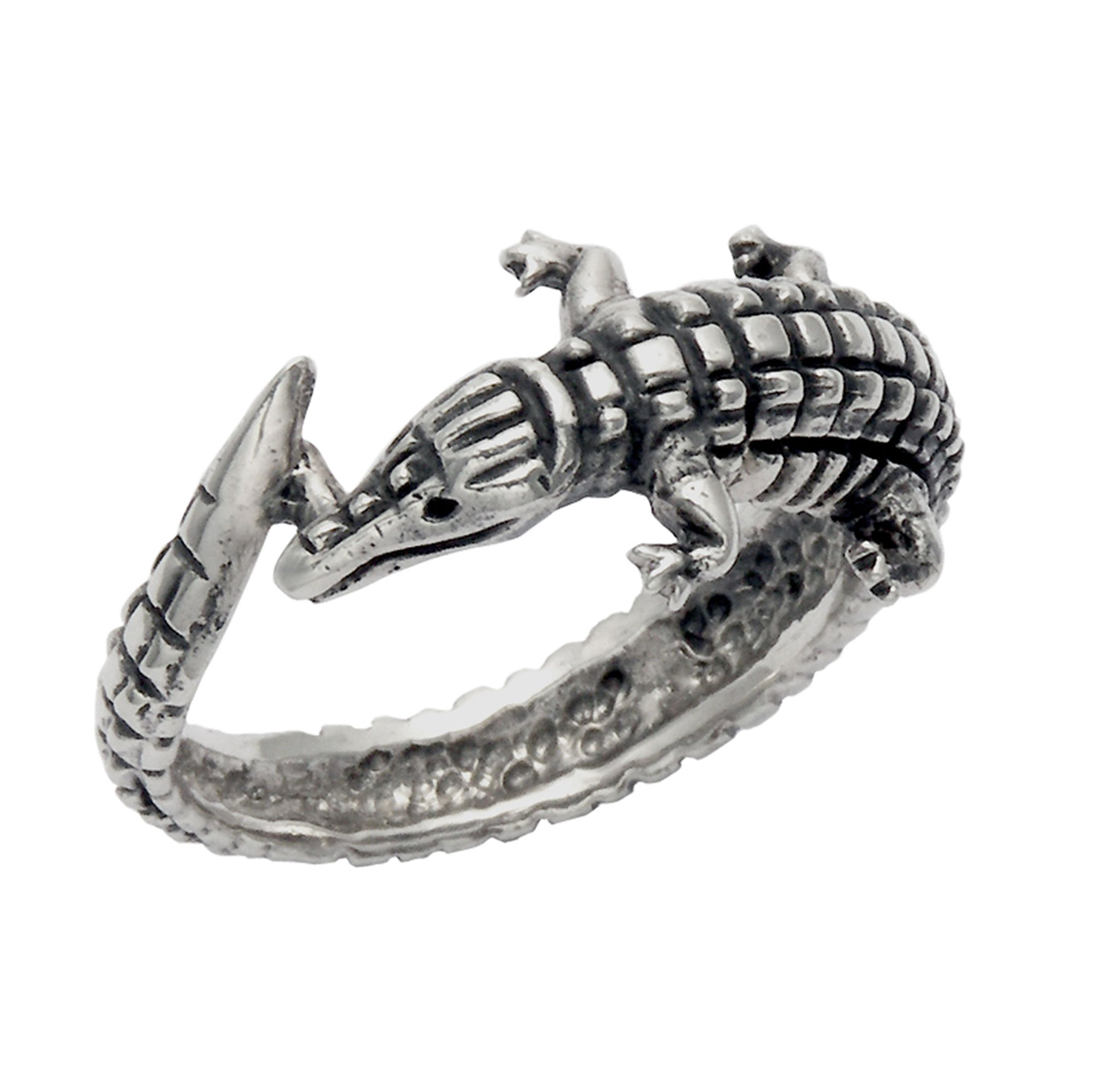Sterling Silver Alligator Wrap Ring (5) by Wild Things