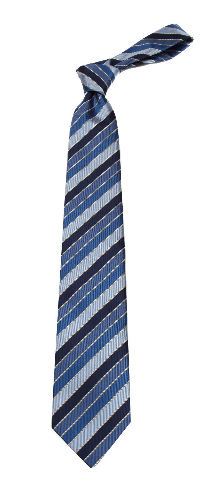 B-11699 - Boys Youth Navy Stripe Designer Necktie Ties