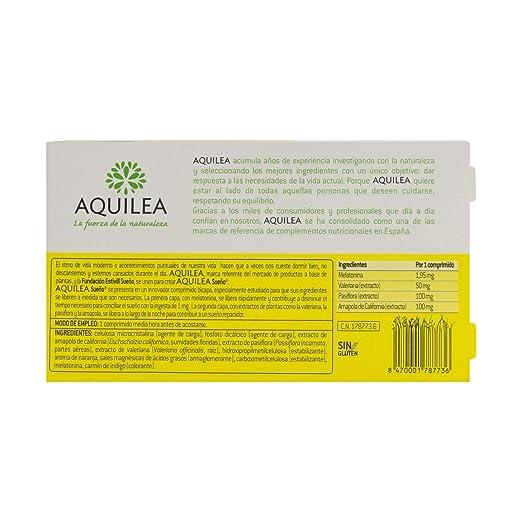 Amazon.com: Aquilea Sleep 60 tabs - Gluten-Free All-Natural Tabs - Rest All Night and Relax - Combat Insomnia - Melatonin, Valerian, California Poppy ...
