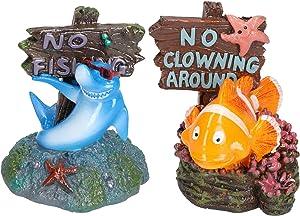 AB Tools Aquatic Aquarium Shark No Fishing & No Clowning Around Fish Tank Ornaments